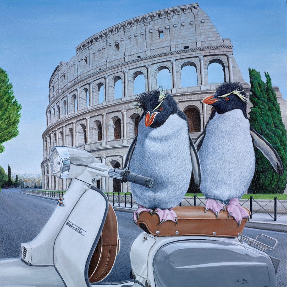 Roman Holiday by steve tandy -  sized 24x24 inches. Available from Whitewall Galleries